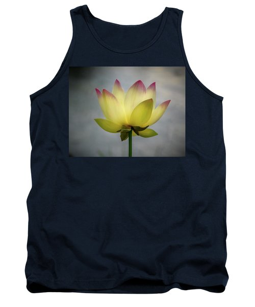 Pink Tipped Lotus Tank Top