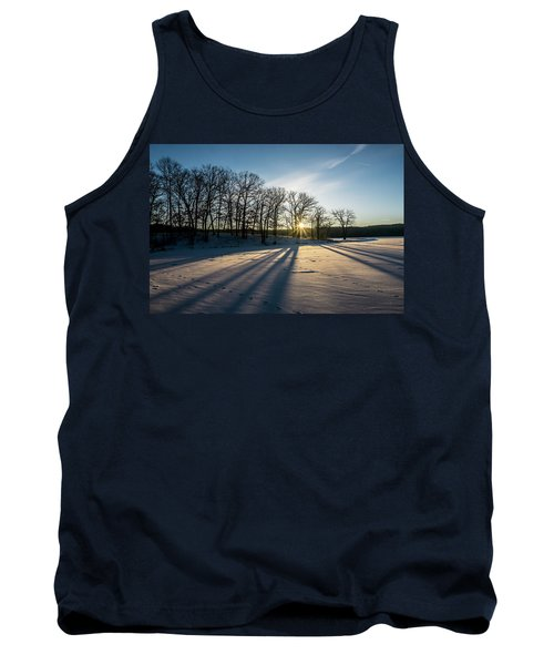 Pretty Winter Sun Rise Scene Tank Top