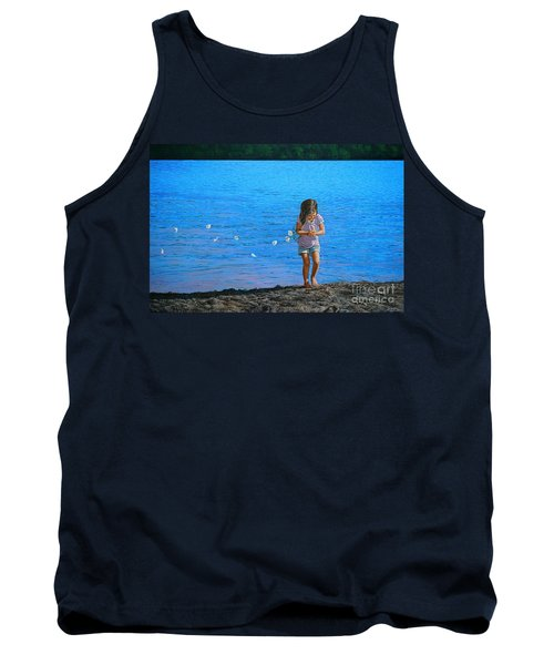 Tank Top featuring the painting Rescuer by Christopher Shellhammer