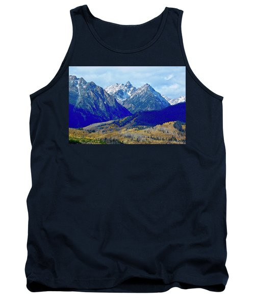 Tank Top featuring the photograph Rugged Peaks by Dan Miller
