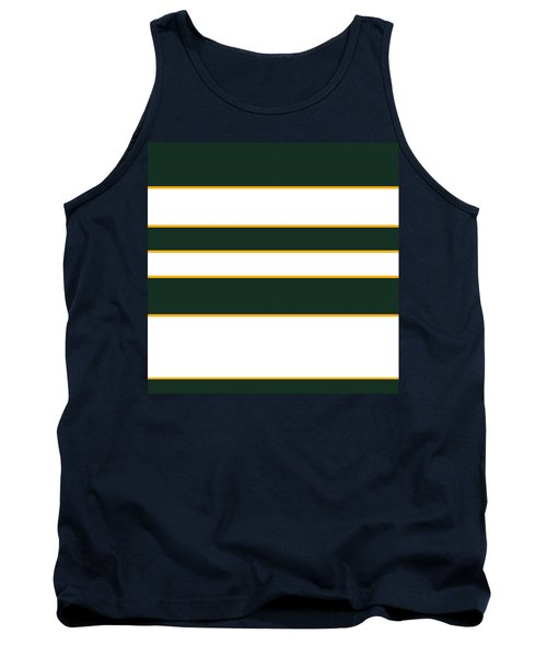 Stacked - Green, White And Yellow Tank Top