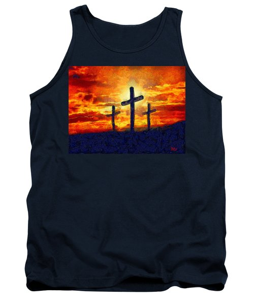 Tank Top featuring the painting The Cross by Harry Warrick
