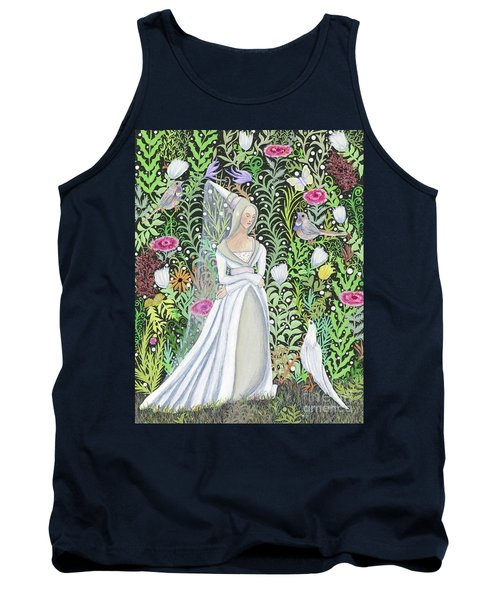 The Lady Vanity Takes A Break From Mirroring To Dream Of An Unusual Garden  Tank Top