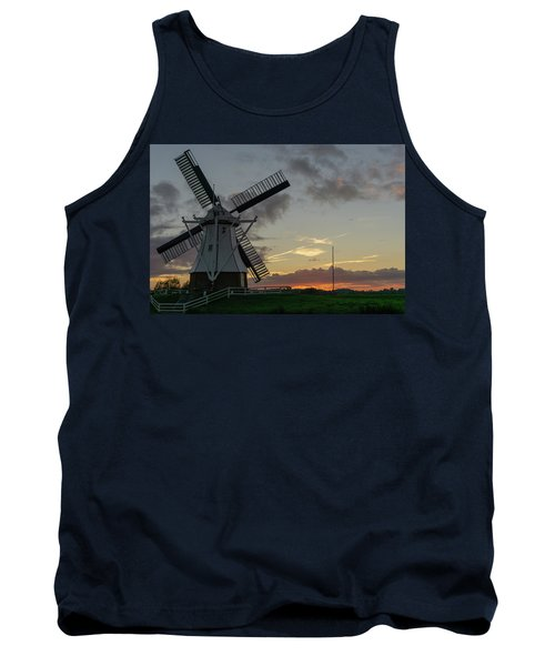 Tank Top featuring the photograph The White Mill by Anjo Ten Kate
