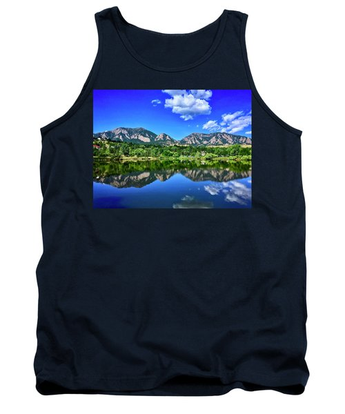 Tank Top featuring the photograph Viele Lake by Dan Miller