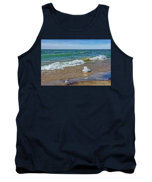 Waves Heading To A Beach Tank Top