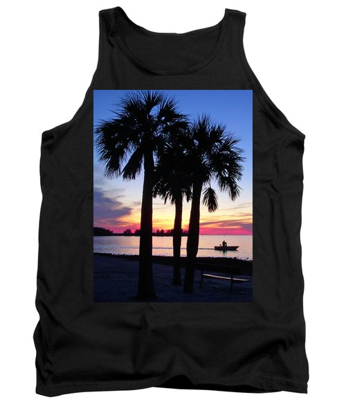 Tank Top featuring the photograph  Beach Sunset by Aimee L Maher Photography and Art Visit ALMGallerydotcom