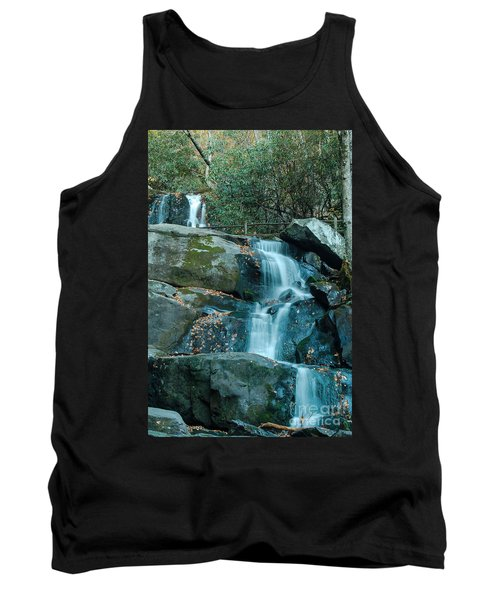 Tank Top featuring the photograph  Bottom Of Laurel Falls by Patrick Shupert