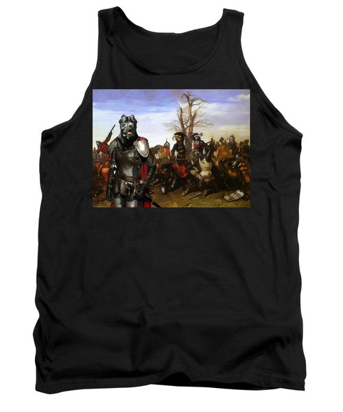 Cane Corso Art Canvas Print - Swords And Bravery Tank Top
