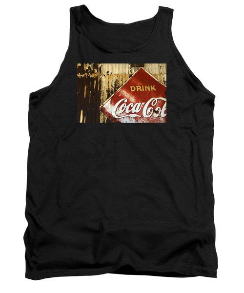 Drink Coca Cola  Memorbelia Tank Top by Bob Christopher