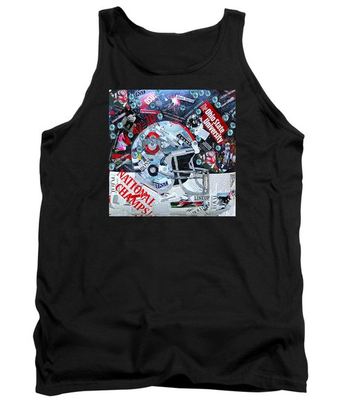 Ohio State University National Football Champs Tank Top by Colleen Taylor
