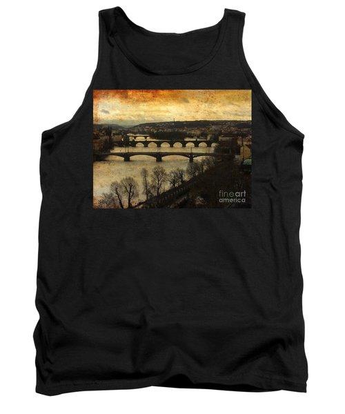 Vintage Prague Vltava River 1 Tank Top