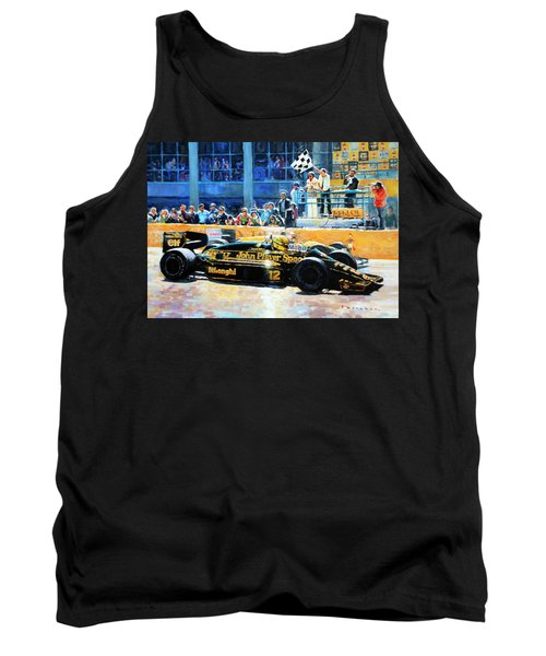 Senna Vs Mansell F1 Spanish Gp 1986 Tank Top