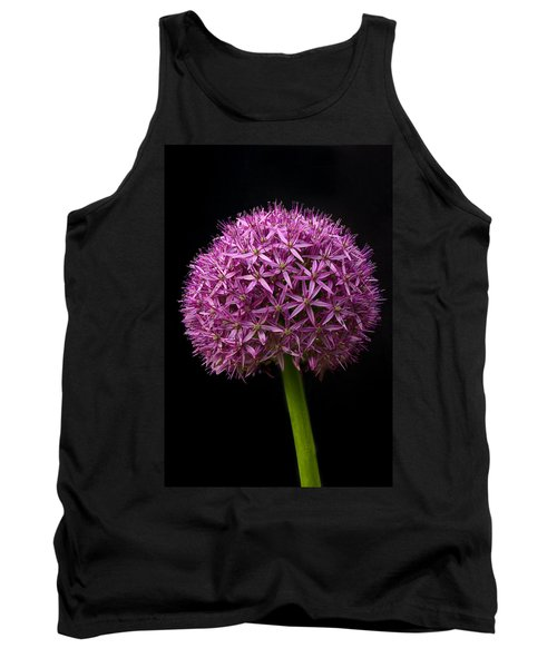 Single Purple Allium Tank Top