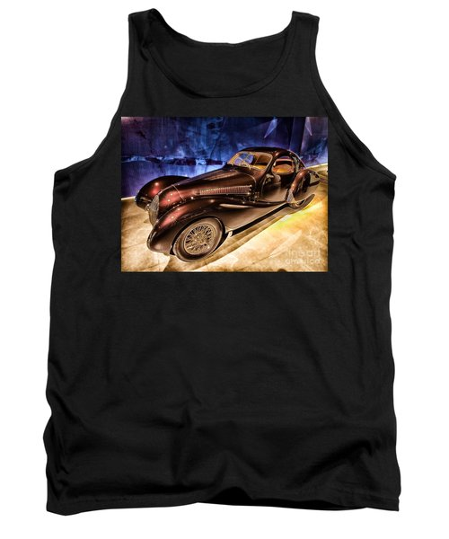 Tank Top featuring the photograph  Talbot Lago 1937 Car Automobile Hdr Vehicle  by Paul Fearn