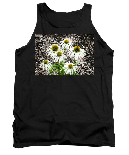 Tank Top featuring the photograph  White Echinacea by Paul Mashburn