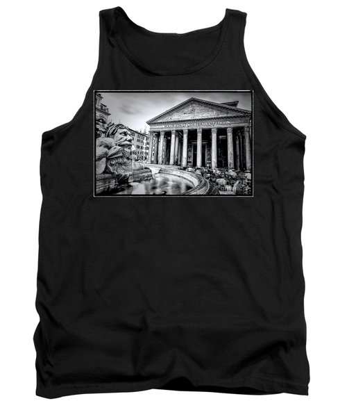 0786 The Pantheon Black And White Tank Top