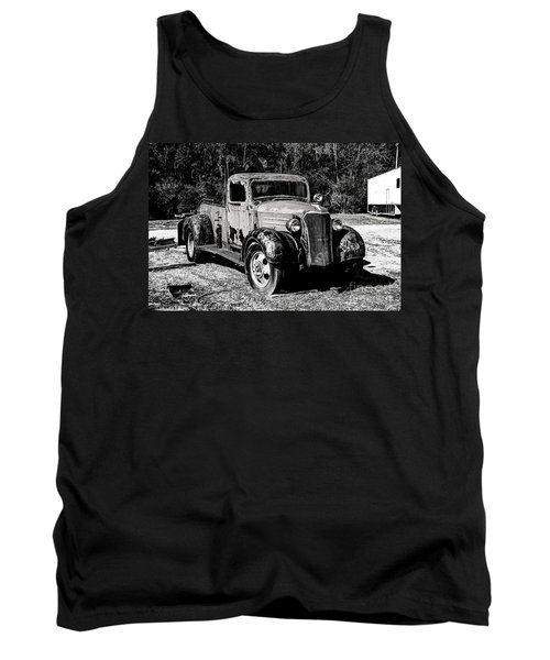Tank Top featuring the photograph 1937 Chevy Wrecker by Paul Mashburn