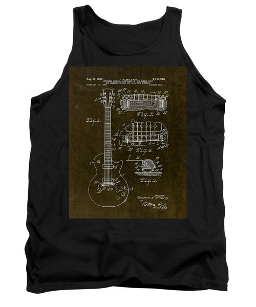 1955 Gibson Les Paul Patent Drawing Tank Top by Gary Bodnar