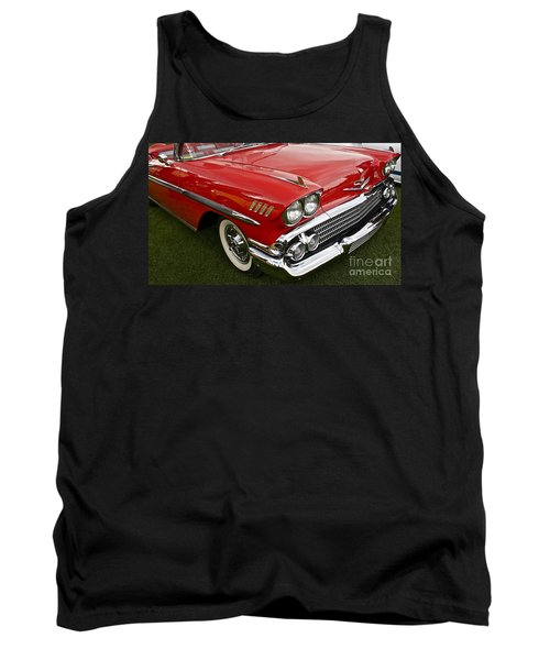 1958 Chevy Impala Tank Top by Linda Bianic
