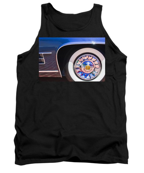 Tank Top featuring the photograph 1962 Ghia L6.5 Coupe Wheel Emblem by Jill Reger