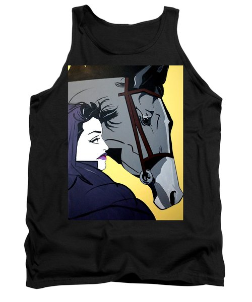 Tank Top featuring the painting 2 Beauties by Nora Shepley