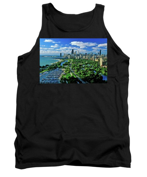 Aerial View Of Chicago, Illinois Tank Top