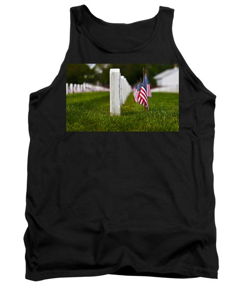 Tank Top featuring the photograph American Flag by Jerry Gammon
