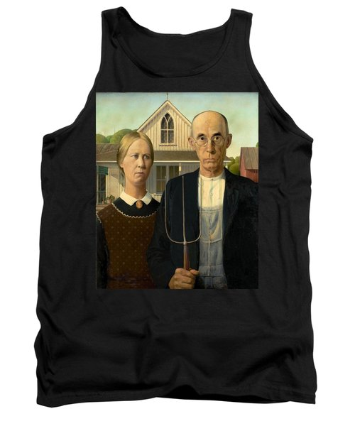 American Gothic Tank Top by Grant Wood
