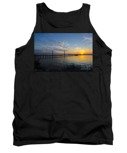 Tank Top featuring the photograph Sunset Over The Charleston Waters by Dale Powell