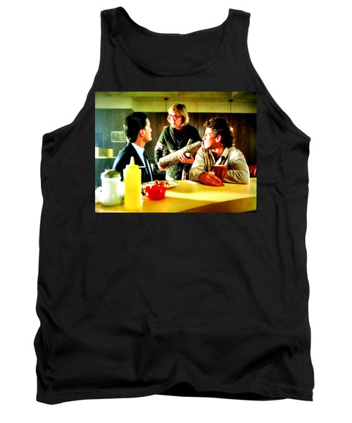 Tank Top featuring the painting Ask It by Luis Ludzska