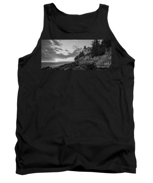 Bass Harbor Head Light Sunset  Tank Top