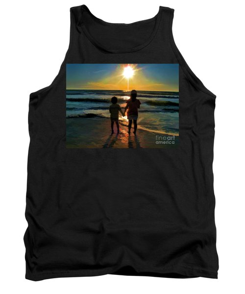 Beach Kids Tank Top by Margie Chapman