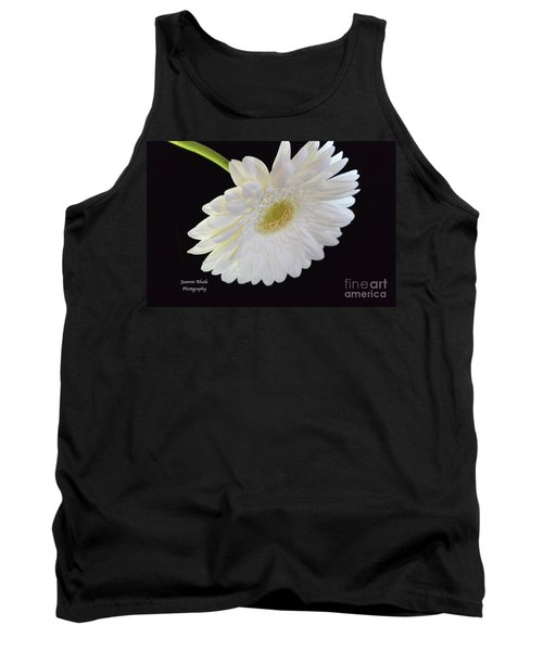 Tank Top featuring the photograph Bright White Gerber Daisy # 2 by Jeannie Rhode