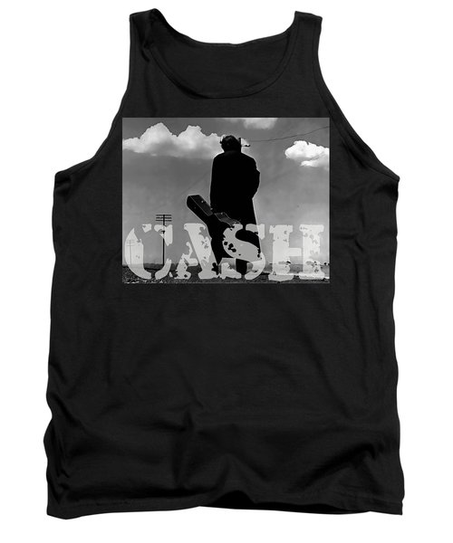 Johnny Cash Tank Top by Marvin Blaine