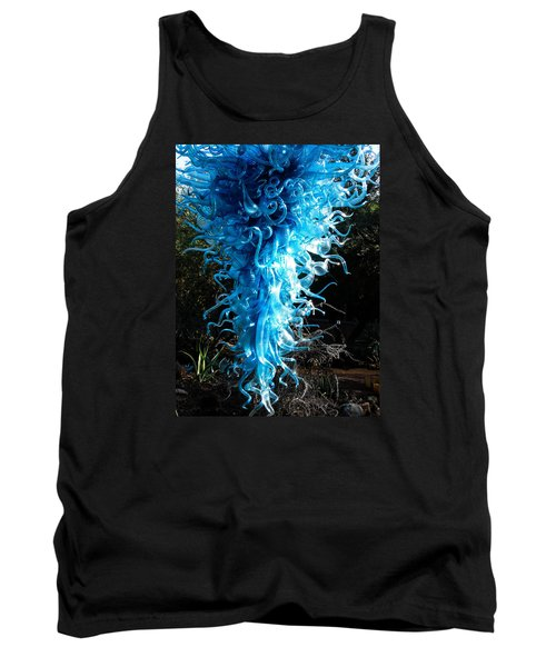 Chihuly In Blue Tank Top by Menachem Ganon