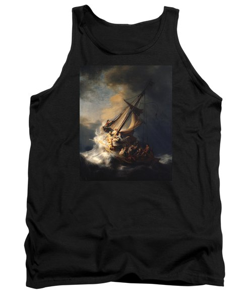 Christ In The Storm On The Sea Of Galilee Tank Top by Rembrandt Van Rijn