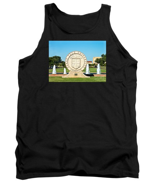 Tank Top featuring the photograph Classical Image Of The Texas Tech University Seal  by Mae Wertz