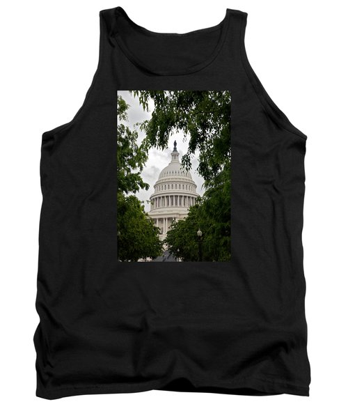 Clouds Over The Capitol Tank Top by Lawrence Boothby