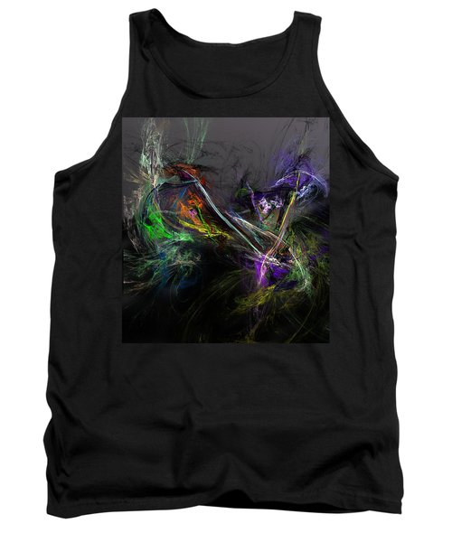 Tank Top featuring the digital art Conflict by David Lane