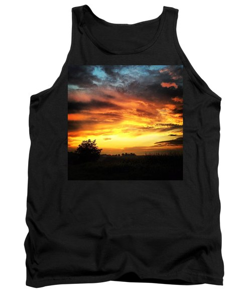 Country Scene From Hilltop To Hilltop Tank Top