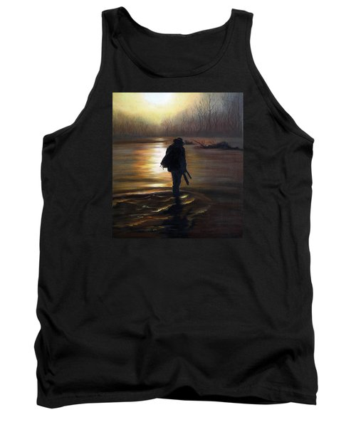 Tank Top featuring the painting Crossing The River by Vesna Martinjak