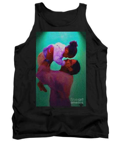 Tank Top featuring the painting Daddys' Little Girl by Vannetta Ferguson