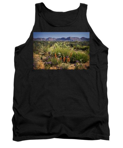 Desert Wildflowers Tank Top by Saija  Lehtonen