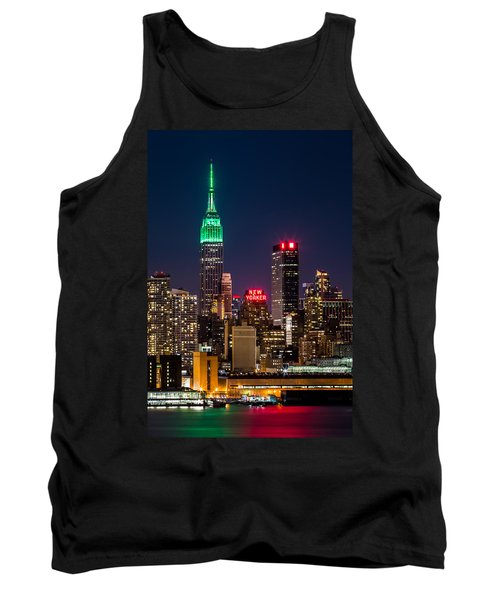 Empire State Building On Saint Patrick's Day Tank Top