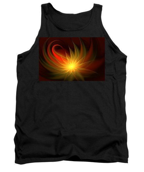 Tank Top featuring the digital art Exotic Flower by Svetlana Nikolova