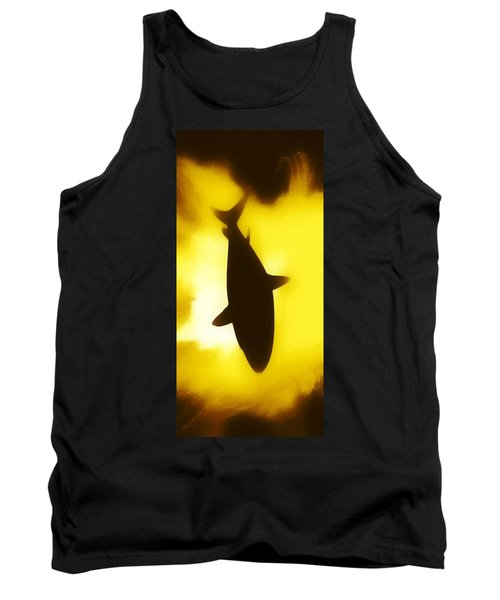 Tank Top featuring the digital art Great White  by Aaron Berg