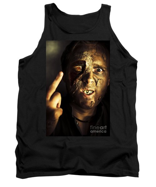 Greeting From The Grave Tank Top