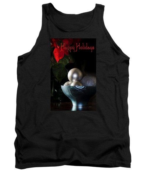 Happy Holidays Greeting Card Tank Top by Julie Palencia
