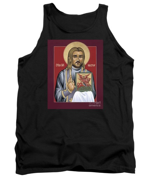 Tank Top featuring the painting Holy New Martyr Nestor Savchuk 069 by William Hart McNichols